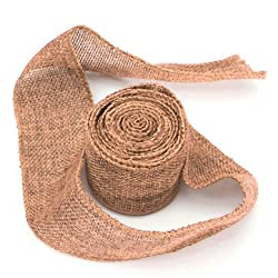 3m Jute Fabric Ribbon Handwork DIY Home Party Wedding Decoration