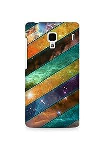 Amez designer printed 3d premium high quality back case cover for Xiaomi Redmi 1S (Stripes sky obliquely)