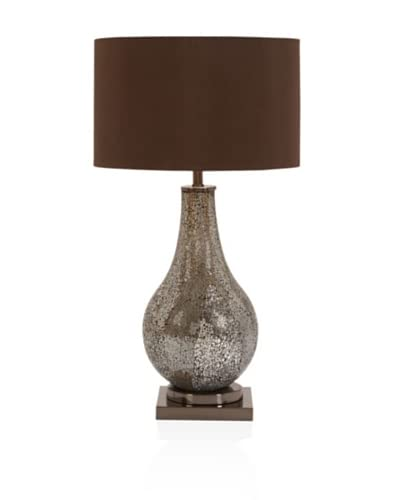 Mtl Mosaic Table Lamp 29H, Brown