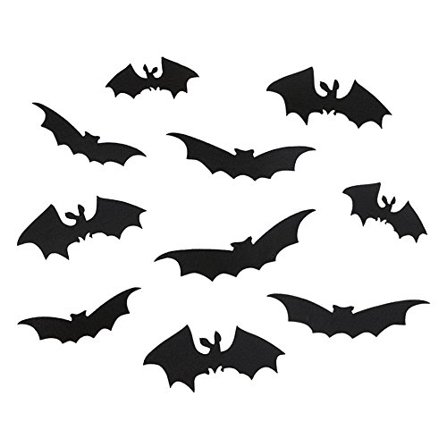 Alinktrend Bat Sticker Halloween Decoration- Adorable Wall Decal Home Decor 10 Pcs/Pack (Cute Halloween Yard Decoration Ideas)