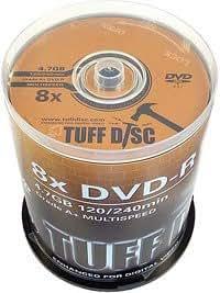 Tuffdisc DVD-R 8x 4.7Gb 100 Cake Box