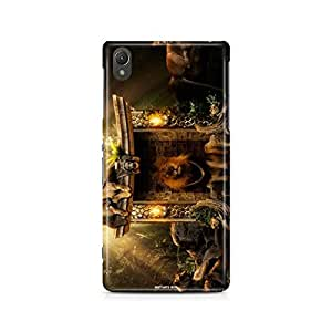 Motivatebox - Sony Xperia M4 Back Cover - Lion Family Polycarbonate 3D Hard case protective back cover. Premium Quality designer Printed 3D Matte finish hard case back cover.