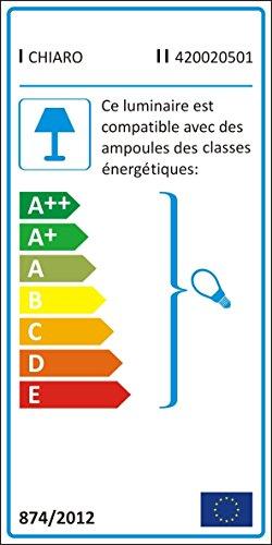 Luminaire applique métal couleur brune abat-jour en verre style campagnard cristal 1 bras non-incl.E14 1*60W 230V
