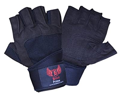 BOOM Pro Weight Lifting Gym Gloves,Fitness and Exercise,Bodu Building with Wrist Straps (FREE UK SHIPPING) by BOOM Pro