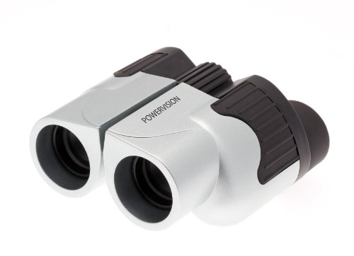 BLACK AND SILVER COMPACT FOLDING 10X25 HIGH QUALITY BINOCULARS. High Power Magnification Special Anti Glare Fully Coated Optics. Lightweight. Ideal for birdwatching, sport, hiking, camping travel.