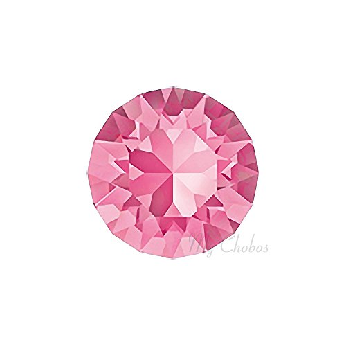 ROSE (209) pink Swarovski 1088 XIRIUS Chaton Round Stones pointed back rhinestones ss39 (8.16 - 8.41 mm) 18 pcs (1/8 gross) *FREE Shipping from Mychobos (Crystal-Wholesale)*