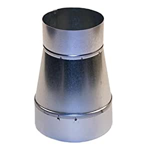 4 To 3 4 X 3 Single Wall Galvanized Metal Duct Reducer