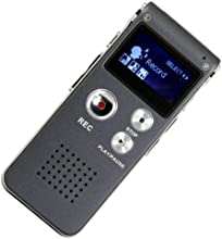 Generic Rechargeable SPY 8GB 650Hr Digital Audio Voice Recorder Dictaphone MP3 Player Perfect for Recording Interviews and Meetings, Students Learning