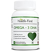 Health-first DHA Vegan Omega3- 500mg,60 Capsules (60 Capsules)