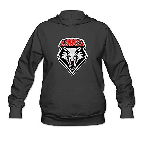 PHOEB Womens Sportswear Drawstring Hoodie Sweatshirt,new Mexico Lobos Football Black X-Large (2)