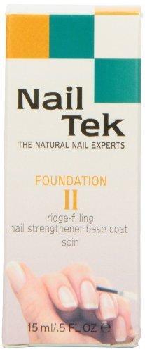 Nailtek Foundation No.2 Ridge-Filling Nail Strengthener Base Coat, 0.5 Fluid Ounce by Nailtek [Beauty] (English Manual)