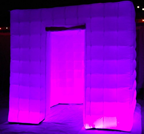 Inflatable Photo Booth Enclosure With Led Changing Lights