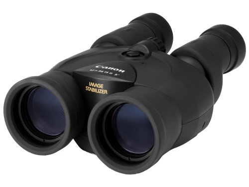 Canon 12 x 36 IS II Binoculars (Supplied With Eyepiece Cap, Neck Strap, Soft Case, 2x AA Batteries)