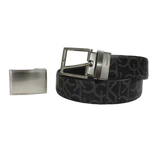 Calvin Klein 3 Pieces Men'S Belt Set (Black)