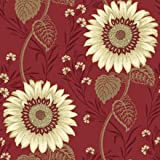 Holden Decor Sunflower Wallpaper 96976, Colour - Red