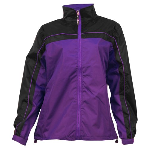 Apparel No. 5 Women's Smart Windbreaker Jacket,Large,Purple / black