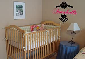 Custom Damask Name - Personalized Nursery Vinyl Wall Art Decal Stickers Decor Graphics