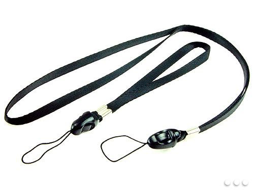 Black Hand & Necklace Straps for Cell Phone