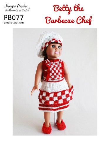 Crochet Pattern Betty the BBQ Chef PB077-R