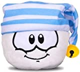 Club Penguin White Pet Puffle with Stripey Hat Plush -- 4'' NEW SERIES 11