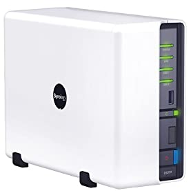 Synology Disk Station DS209 High Performance 2-Bay SATA NAS Server for Workgroups and Offices-White