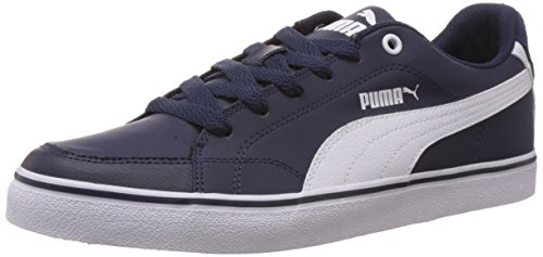Puma Court Point Vulc, Low-Top Sneaker uomo, Blu (Blau (peacoat-white 01)), 43