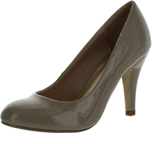 Pierre Dumas Women's Faviola-1 Nude Comfortable Round Toe Pumps-9