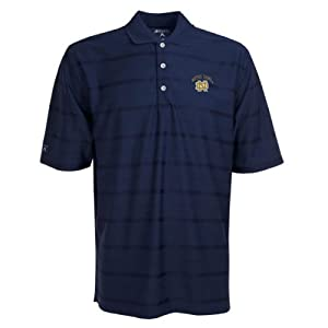 Notre Dame Fighting Irish Polo - NCAA Antigua Mens Tone Navy by Antigua