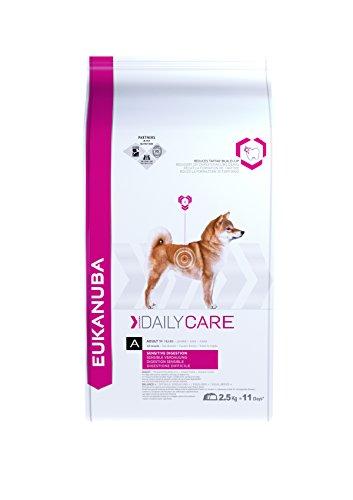Artikelbild: Eukanuba Daily Care Sensitive Digestion Trockenfutter (für Hunde mit sensibler Verdauung, Spezial-Premiumfutter für jede Rasse mit Huhn), 2,5 kg Beutel