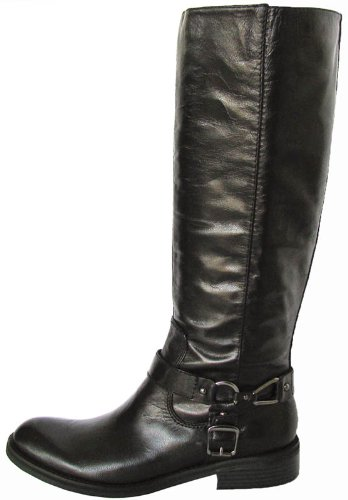 Enzo Angiolini Women 'Saul' Knee-High Boot Shoe, Black Leather, US 7.5