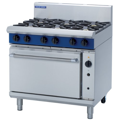 Blue Seal 6 Burner Fan Oven Range - G56D - 900(w)812(d)915(h)mm - Pack Size: Single