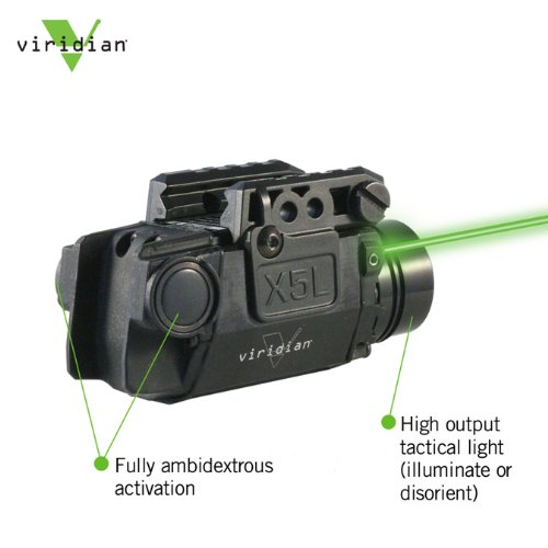 Viridian X5l Universal Mount Green Laser Sight With Tac Light Black by Viridian