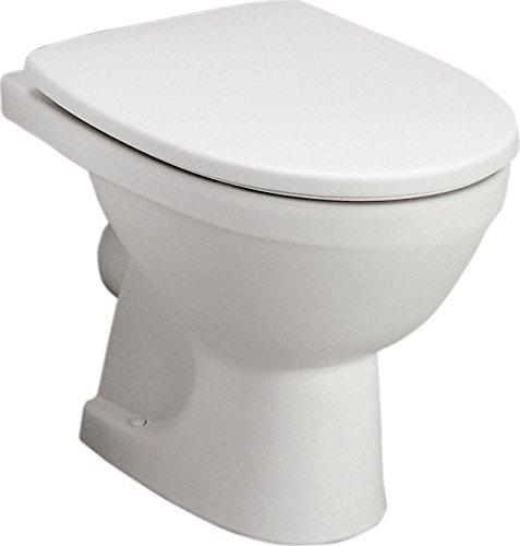 Stand-WC-Set Lucanto   Weiß   Inklusive WC-Sitz   Tiefspüler   Abgang waagerecht