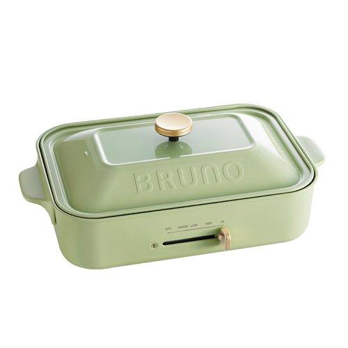 BRUNO コンパクトホットプレート (プレート2枚付き) 【 グリーン 】