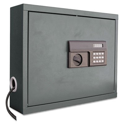 Atlantic Metal Wall-Mount Laptop Computer Cabinet - 20-5/8 X5-1/4 X19-1/2