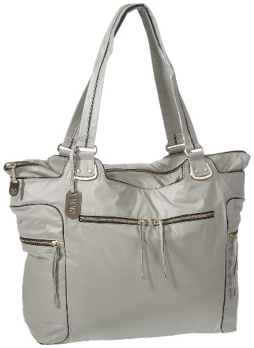 Kipling Jemma Mouse Grey Large A4 Shoulder Bag