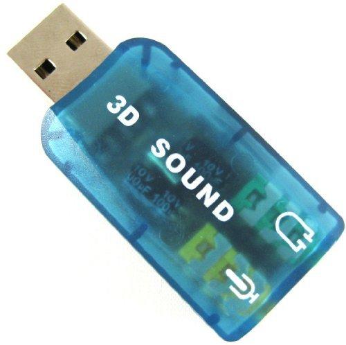 Usb 2.0 Usb2.0 3D Virtual 5.1 Channel Mic Speaker Earphone Headphone Audio Sound Adapter Converter Card