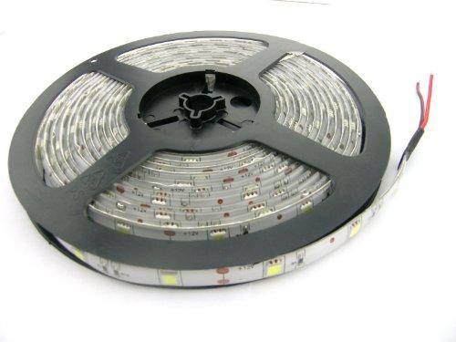 Flexible Led Strip Light 150 Led 5050 Smd Cool White Waterproof Led Ribbon 5 Meter Or 16 Feet,12 Volt 36 Watt