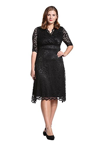 Dilanni-Womens-Retro-Floral-Lace-Half-Sleeve-Evening-Party-Dress