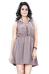 Trendif Women's Dress (1015_Beige_Medium)