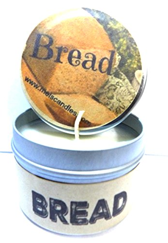 Bread (Fresh Baked) - 4oz Hand Made Soy Candle Travel Tin - Approximate Burn Time 36 Hours (Bread Scented Candles compare prices)