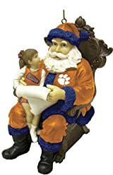 Wishlist Santa Ornament-Clemson