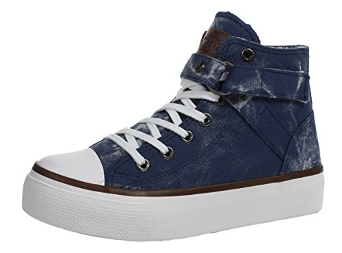 Xiaxian Womens Casual Summer Canvas Shoes(7 B(M)US,Navy)