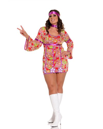 Sexy Free Love Adult Costume AND Accessories Plus Size ( 1X2X )