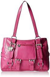 Butterflies Stylish Women's Handbag (Pink) (BNS 0356 PK)