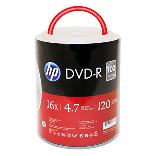 Find Bargain HP DVD-R 16X 4.7GB 100PK Spindle with Handle