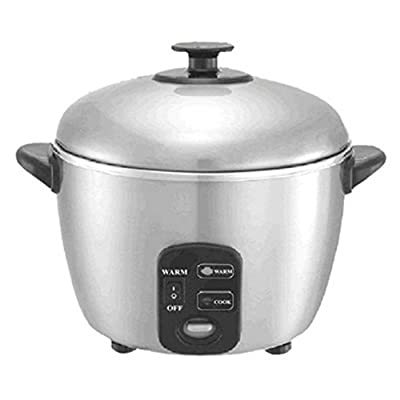 Sunpentown SC-887 6 Cup Stainless Steel Rice Cooker and Steamer by SPT Appliance Inc