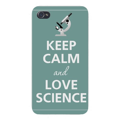 Apple Iphone Custom Case 5 / 5S White Plastic Snap On - Keep Calm And Love Science Microscope
