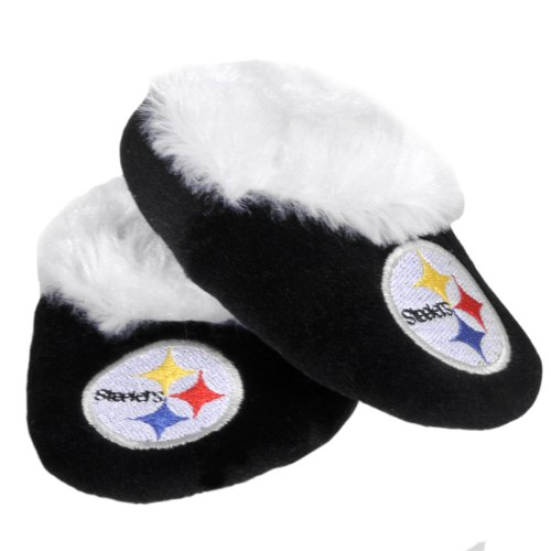 NFL Pittsburgh Steelers Baby Bootie Slippers from Forever Collectibles