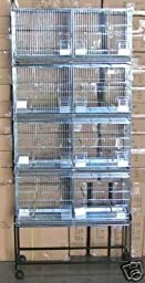 COMBO: LARGE Stack and Lock Double Breeder Cage Bird Breeding Cage With Removable Divider And Breeder Doors 4 Of 30\